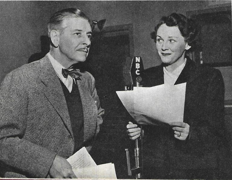 Ronald-Colman-and-his-Wife-on-Radio