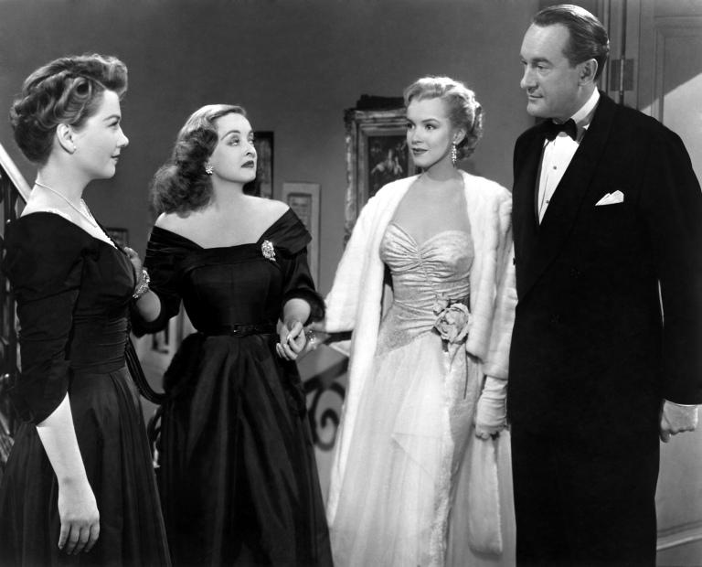 anne baxter, bette davis, marilyn monroe & george sanders - all about eve 1950